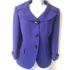 TAHARI ROYAL BLUE CAREER JACKET